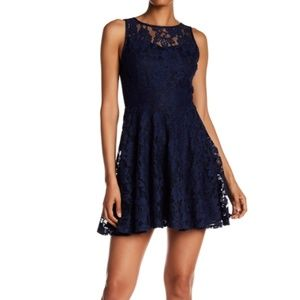Lily Star Size L Blue Lace Dress